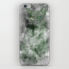 Green Cat iPhone Skin
