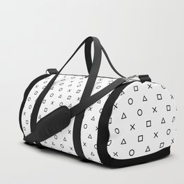 Playstation Controller Pattern (Black on White) Duffle Bag