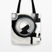 clockwork Tote Bags featuring CLOCKWORK  by Linnea Heide