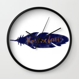 Ravenclaw Feather Wall Clock