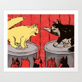 Fat Cats Art Print
