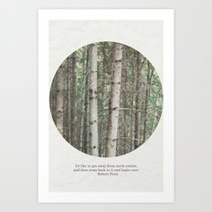 robert frost's birch trees Art Print