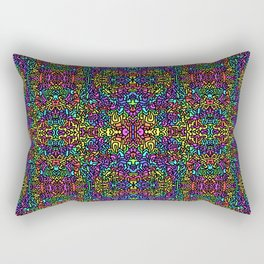 rainbow mirr0red Rectangular Pillow