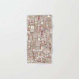 gingerbread town Hand & Bath Towel