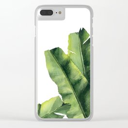 Banana Leaves. Clear iPhone Case