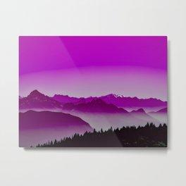 Rise above the mist. Purple Metal Print