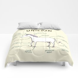 Anatomy of a Unicorn Comforters