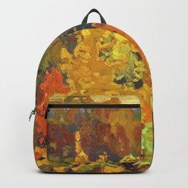 Canadian Landscape Oil Painting Franklin Carmichael Art Nouveau Post-Impressionism Autumn Backpack