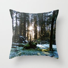 Winter Forest Photography Print Throw Pillow
