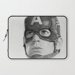 Portrait Drawing of Capt. America Laptop Sleeve