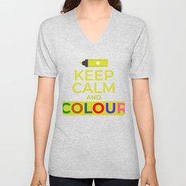 Keep Calm And Colour Unisex V-Neck