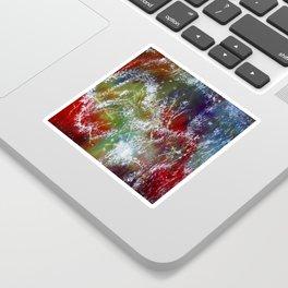 Beautiful Silk Scarf Artwork Sticker