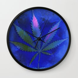 Hemp Lumen #2 Marijuana, Cannabis Wall Clock