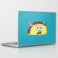 taco Laptop & iPad Skins featuring Taco Bob by Gimmickey Pop