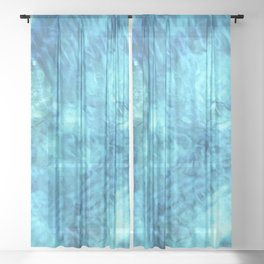 Peaceful and Calming Ocean Water Reflections Meditation Sheer Curtain