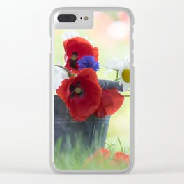 Poppies Symphonies Clear iPhone Case