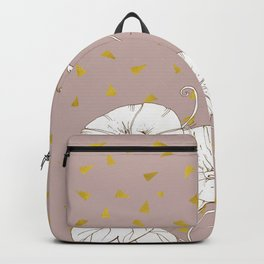 Morning Glory in Gold Backpack