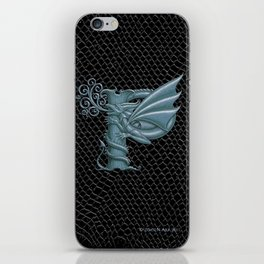 """Dragon Letter P, from """"Dracoserific"""", a font full of Dragons iPhone Skin"""