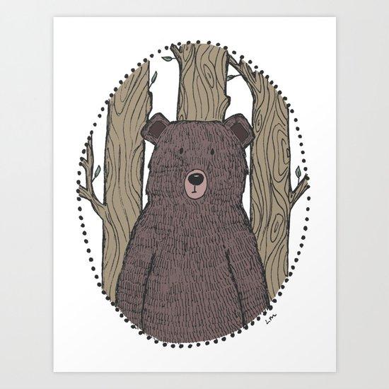 Portrait of a Bear Art Print