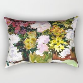 Asters. Bouquet. Flowers. Still-Life. Rectangular Pillow