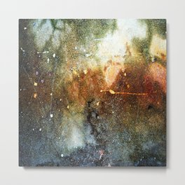 Rust Stained Best Cement Abstract Metal Print