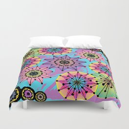 Vibrant Abstract Floral Pattern Duvet Cover