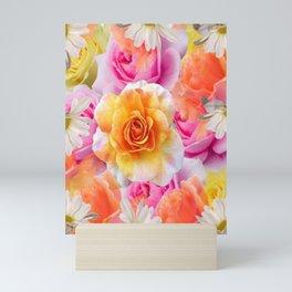 Spring Flowers Galore Absstract Mini Art Print