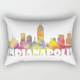 Indianapolis Indiana  Skyline MCLR 2 Rectangular Pillow