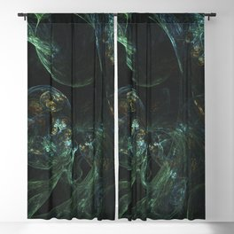 Geometric Cosmic Light 102 Blackout Curtain