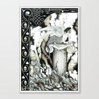 sphynx Canvas Prints featuring Sphynx by Elias Aquino