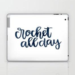 Crochet All Day - Navy Laptop & iPad Skin