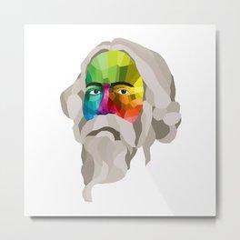 Rabindranath Tagore - popart portrait Metal Print