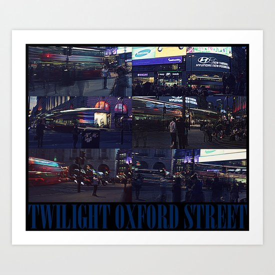 TWILIGHT OXFORD STREET Art Print