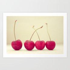 Cherry Line Art Print