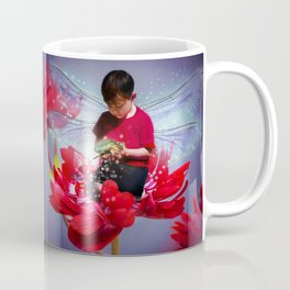 Red Bug Fairy Coffee Mug