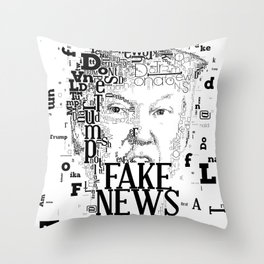 Fake News Donald Trump 2 Throw Pillow