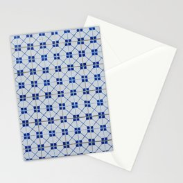 Lisbon tiles - decorative in blue Stationery Cards