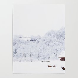 Cabin in the Snow (Color) Poster