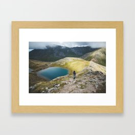 A lake in the mountains Framed Art Print