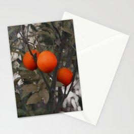 Three oranges on an orange tree Stationery Cards