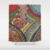 explore Shower Curtains featuring Explore by Meredith Bub