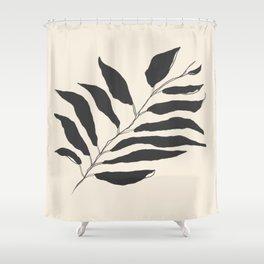 breezy palm Shower Curtain