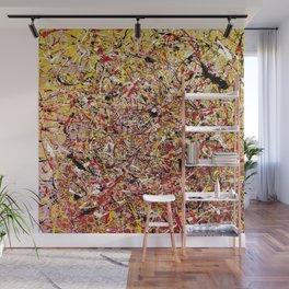 TENDER SUN - Jackosn Pollock style drip painting art design, dripping design, splash patern modern art Wall Mural