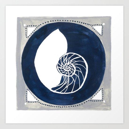 Seaside Specimen No.1 nautilus Art Print