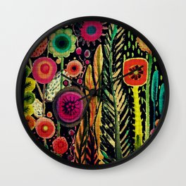 printemps (old fabric) Wall Clock