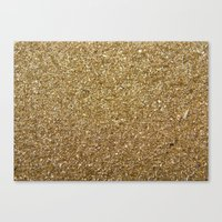 rose gold Canvas Prints featuring Gold by Rose Wierts