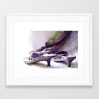 shoes Framed Art Prints featuring Shoes by Felicia Caravaca