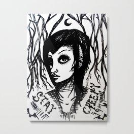 stay creepy Metal Print