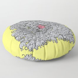 Stand Out & Be Herd Floor Pillow