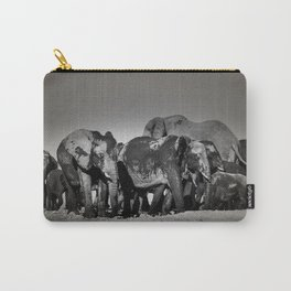 Elephant Herd Circling Carry-All Pouch